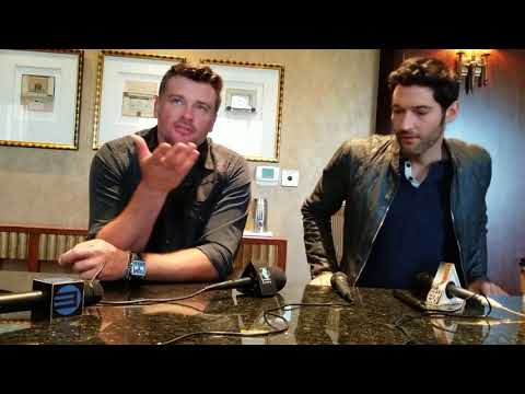 with Tom Welling and Tom Ellis about Lucifer