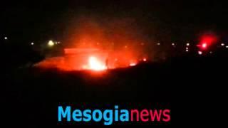 Φωτιά στον οικισμό των Ρομά στο Κορωπί