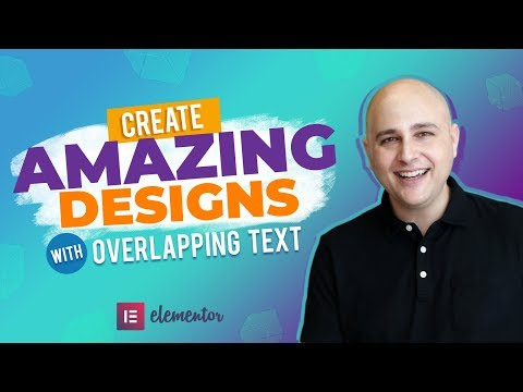 Create Amazing Chic WordPress Website Designs With Overlapping Text – Elementor Tutorial