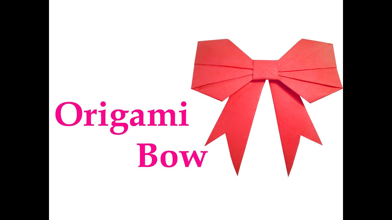 How to make Origami Bow ( very easy ) : DIY Crafts - YouTube - photo#36