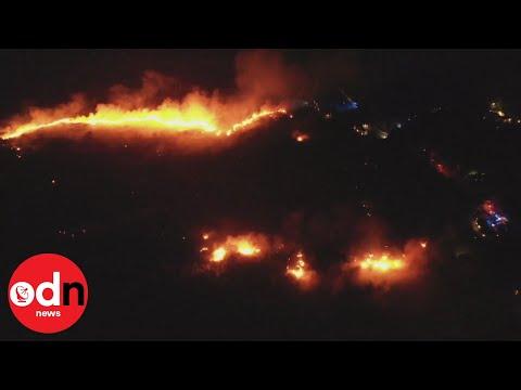 Shocking aerial footage shows wildfires raging in Northern Ireland