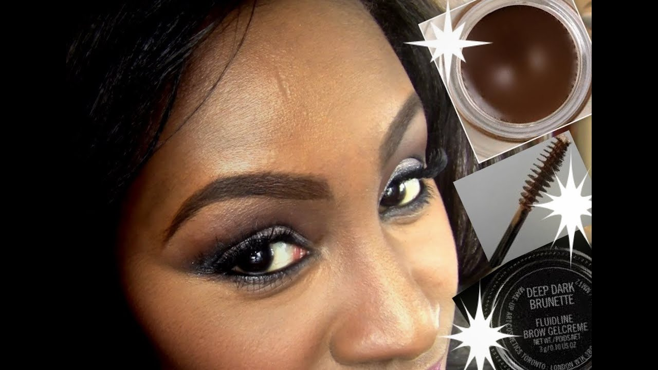 How I Fill Indefine Highlight My Brows Using Mac Fluidline Brow