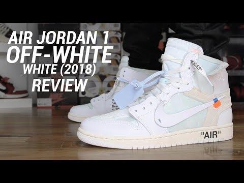 bbc8d96b07c27 OFF WHITE AIR JORDAN 1 WHITE 2018 REVIEW - YouTube