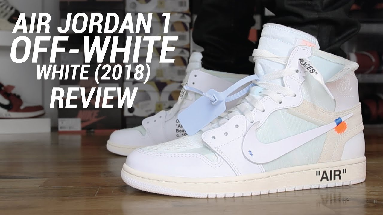 e00c4b7bcfd9cf OFF WHITE AIR JORDAN 1 WHITE 2018 REVIEW - YouTube