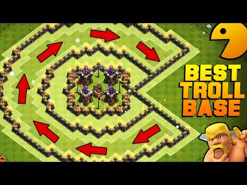 "Thumbnail: Clash of Clans | EPIC ""PACMAN"" TROLL BASE 