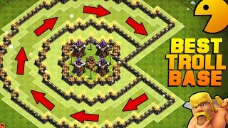 "Clash of Clans | EPIC ""PACMAN"" TROLL BASE 