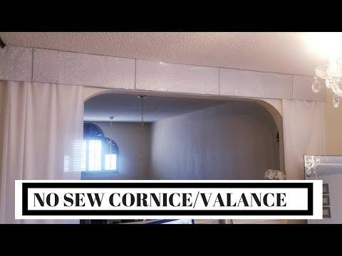 HOW TO MAKE A FOAM VALANCE/ CORNICE  || NO SEW CORNICE/VALANCE
