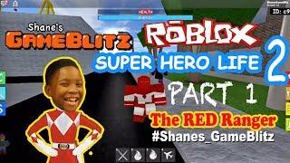 Roblox: Super Hero Life gameplay - PART 1 Red Ranger