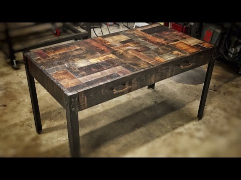 Building a Rustic Industrial Desk