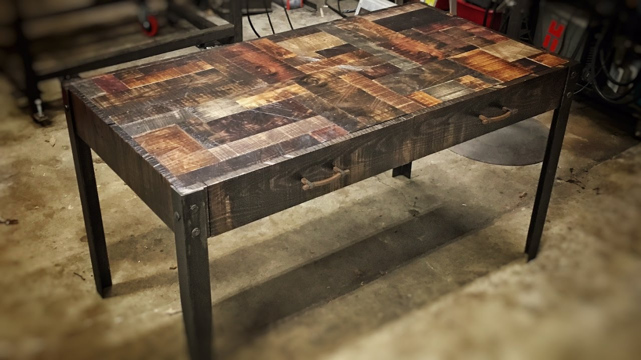 Superb Building A Rustic Industrial Desk   YouTube