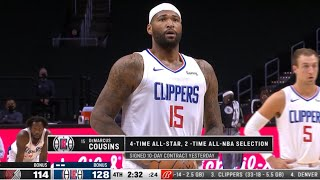 DeMarcus Cousins Game Debut vs Portland | Clippers acquired Cousins for a 10-day Contract