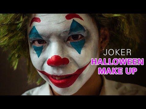 Easy Joker Halloween Face Paint Makeup TUTORIAL | CECILIA VUONG