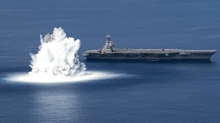 video: Watch: US Navy detonates giant underwater explosive to test aircraft carrier