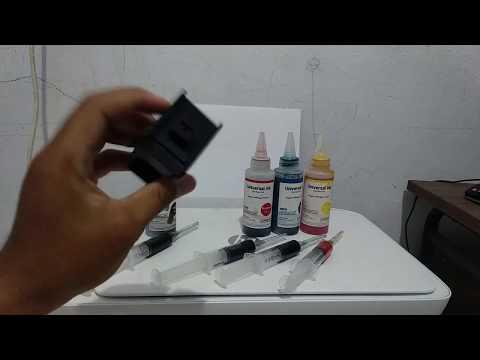 pada video kali ini sy akan melakukan refil toner atau catridge dari printer laser, yaitu printer HP.
