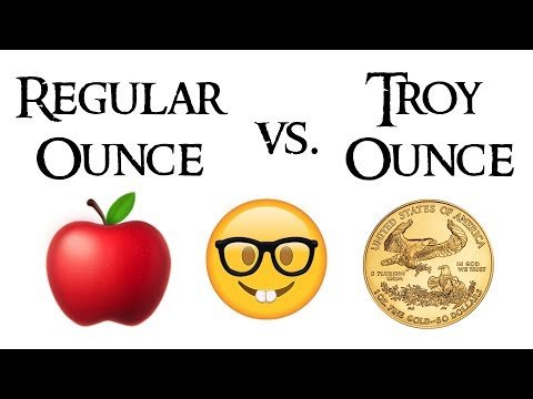 What Is The Difference Between A Regular Ounce And A Troy Ounce