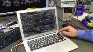 Ремонт Macbook Air a1466 Late 2014. Интересный случай с неожиданно простым решением.