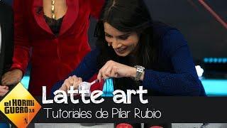 Pilar Rubio, con mucho talento, nos impresiona con el arte de la crema del café - El hormiguero 3.0