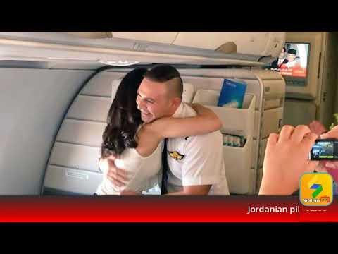 Jordanian pilot proposes on Royal Jordanian flight 2017
