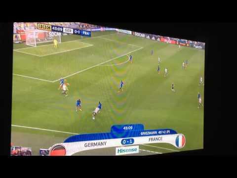 Sagna Goal | France VS Germany 2:0| Euro SemiFinal