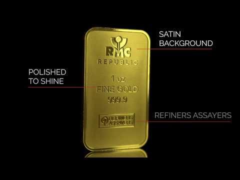 EXCLUSIVE REVEAL   NEW 1 OZ RMC GOLD BAR DESIGN   BULLION EXCHANGES