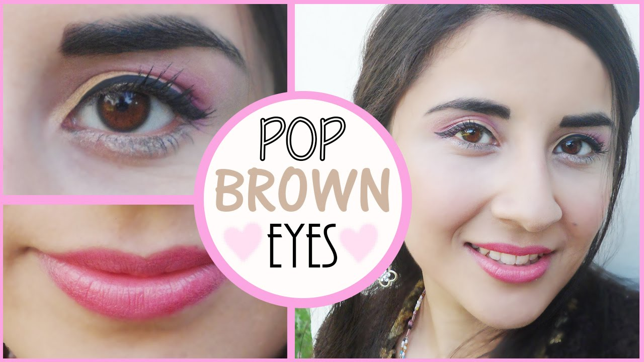 how to make brown eyes pop without makeup