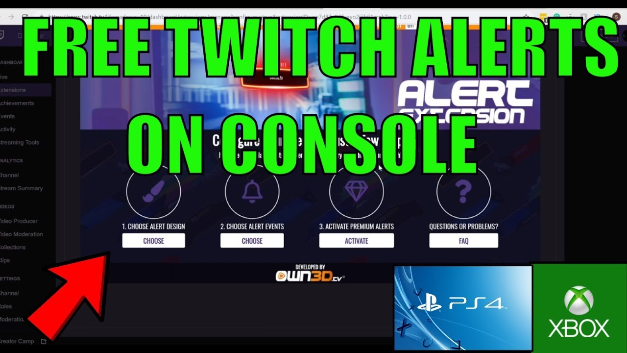 HOW TO GET FREE TWITCH ALERTS ON XBOX ONE AND PS4 WITH NO CAPTURE CARD IN  2019!!!!!