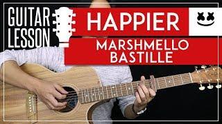 Happier Guitar Tutorial   Marshmello Guitar Lesson |Chords + Lead + Guitar Cover| Video