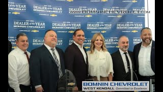 Bomnin Chevrolet West Kendall Dealer Of The Year 2018 Youtube
