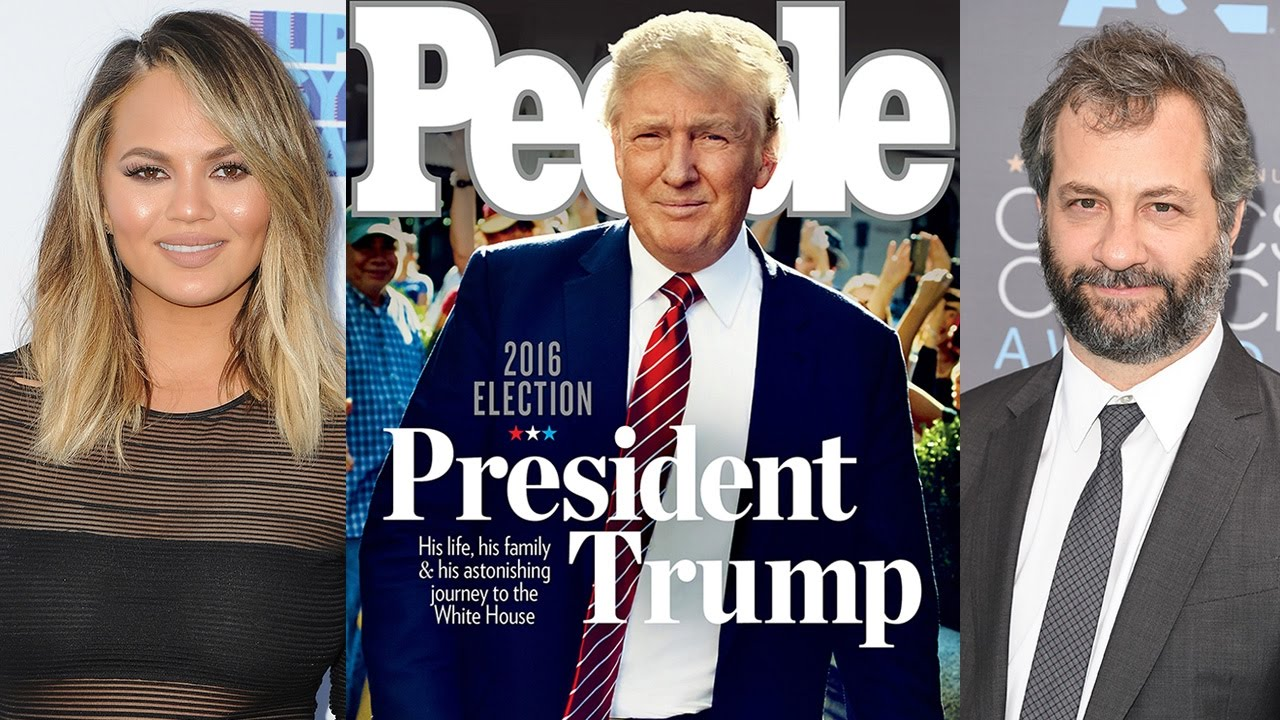 Chrissy Teigen & More Celebs Call For BOYCOTT Of People Magazine For This Trump Cover
