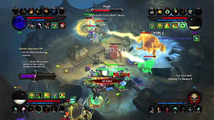 diablo iii reaper of souls  couch coop 4 players ps4 grift27
