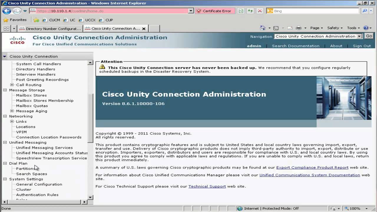cisco business edition 6000 be6k unity connection 8 6 rh youtube com Cisco Unity Connection View Mail Cisco Single Inbox