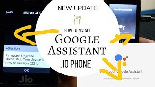 How To Install Google Assistant & Tez Apps In Jio Phone    JioPhone New Update  