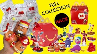 Limited Edition McDonald's 40 Years Of Happy Meal Toys FULL COLLECTION Unboxing! HACKS