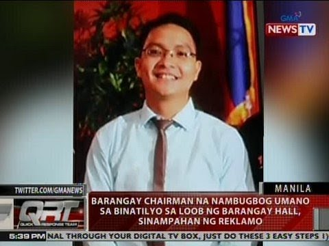QRT: Kapitan na nambugbog umano sa binatilyo sa loob ng barangay hall, sinampahan ng reklamo