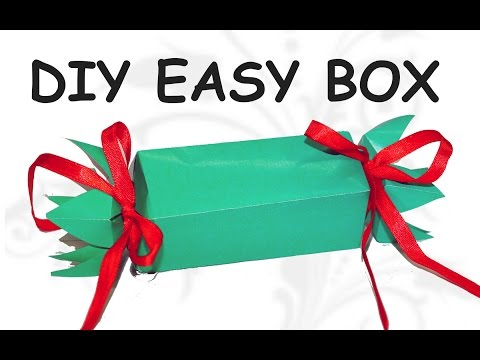 Do it yourself CRAFTS - How to make a Candy Gift Box / DIY beauty and easy