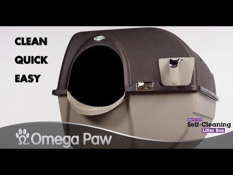 Omega Paw Roll'n Clean Self-Cleaning Litter Box - ELITE