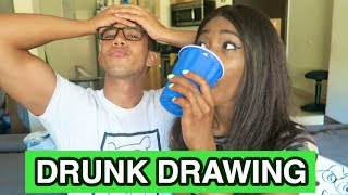 DRUNK DRAWING CHALLENGE