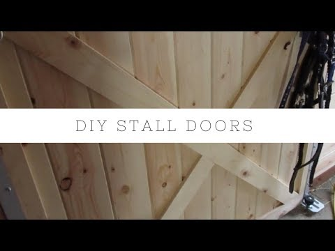 DIY Stall Fronts HORSE BARN  How to Build Sliding Barn Door
