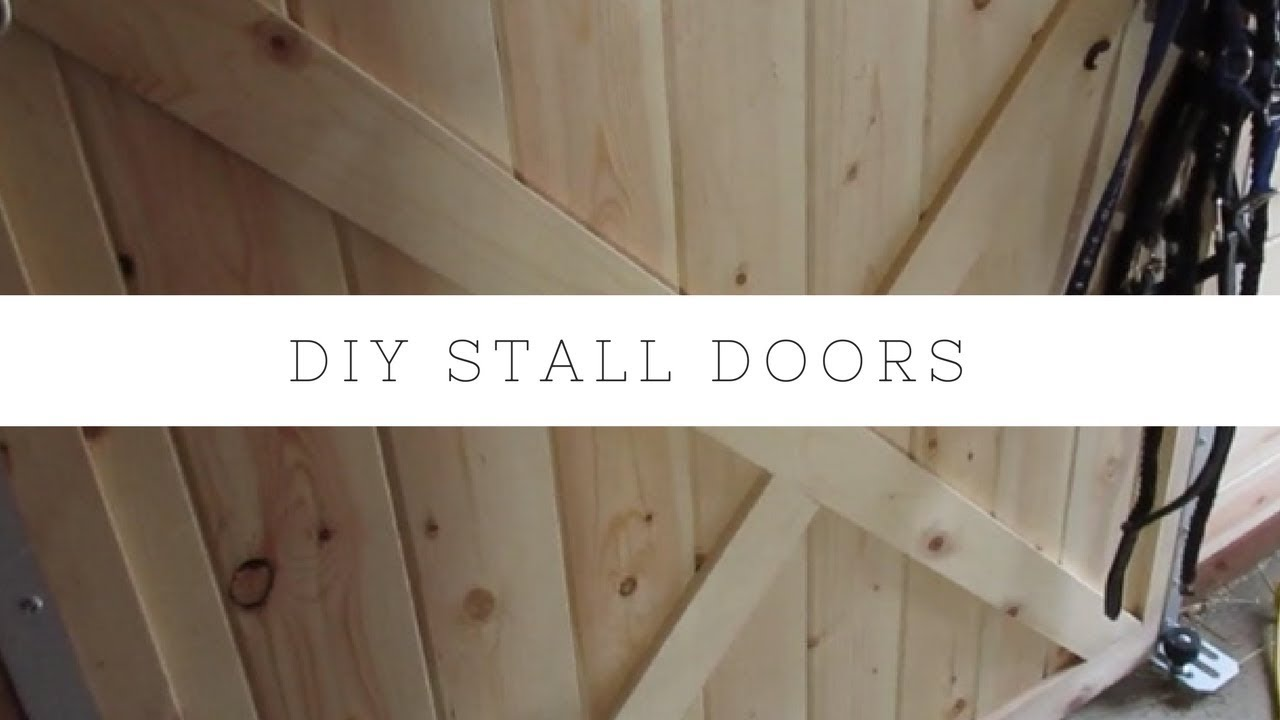 DIY Stall Fronts HORSE BARN How to Build Sliding Barn Door & DIY Stall Fronts HORSE BARN How to Build Sliding Barn Door - YouTube