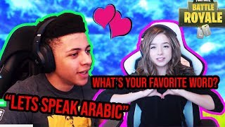 Myth and Pokimane Speak Arabic *NEW* *CUTE* Steamer hits *EPIC* Trickshot