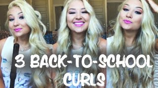 3 Quick Easy Back To School Curls NuMe Wands