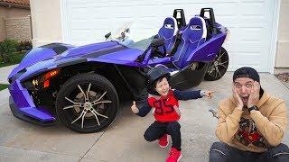 سينيا أعطى بابا سيارة بولاريس ثلاثية العجلات لم ترها بعد!