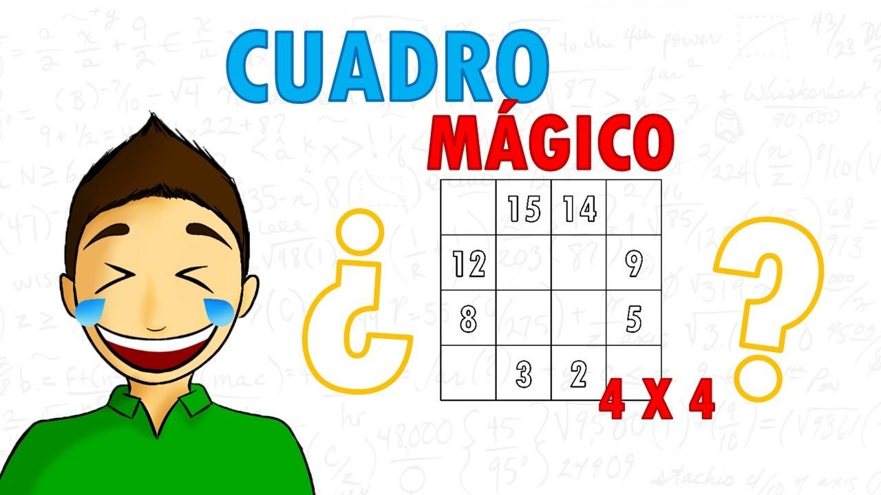 COMO RESOLVER UN CUADRO MAGICO DE 4X4 Super facil - YouTube