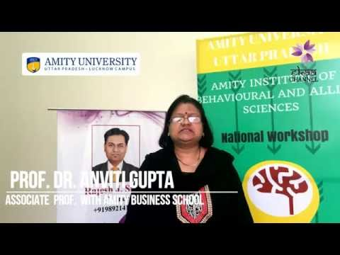 Prof. Anviti Gupta from Amity Business School (Lucknow) Gave Testimonial about EKAA Foundation