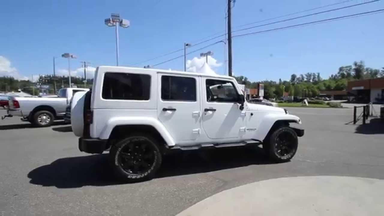 2014 Jeep Wrangler Unlimited Altitude Edition  White  EL278094