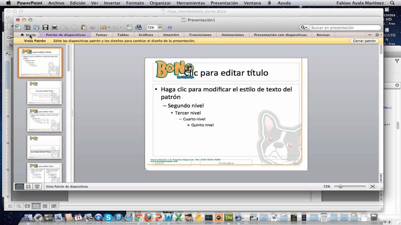 Como hacer hoja membretada en Word y PowerPoint - YouTube