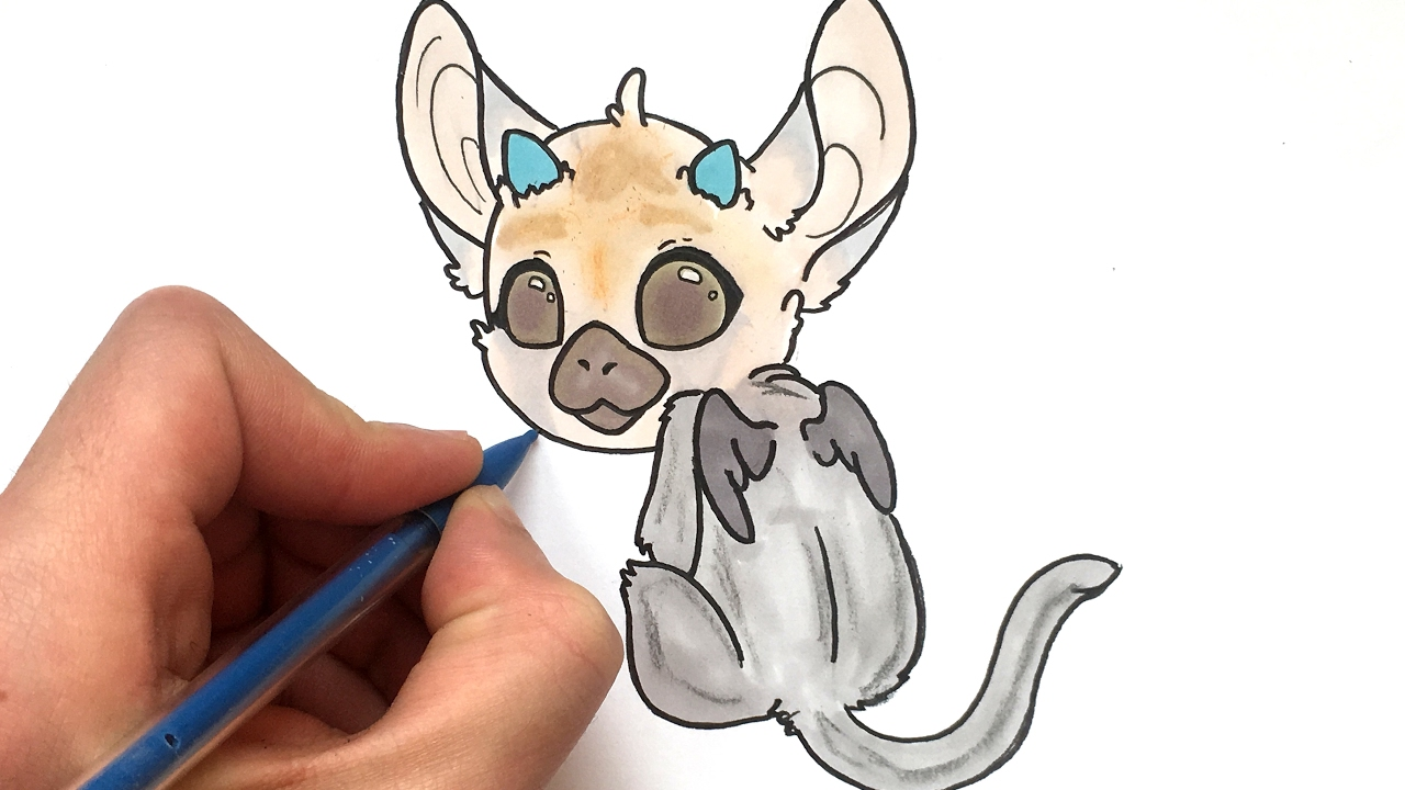 Coloriage Hamster Kawaii.Dessin Trico Kawaii The Last Guardian Youtube