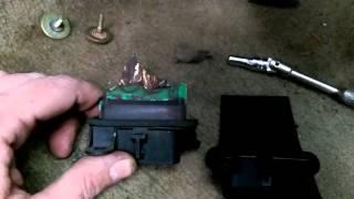 2001 Pontiac Grand Am blower motor removal