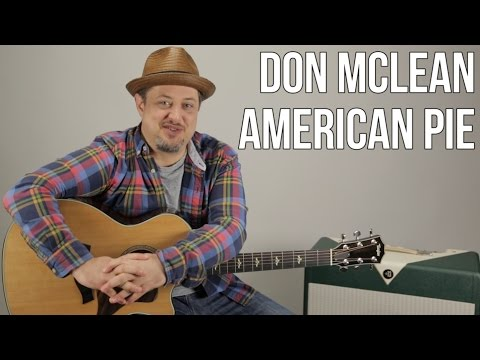 "How to Play ""American Pie"" by Don McLean on Acoustic Guitar - Easy Songs"
