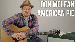 """How to Play """"American Pie"""" by Don McLean on Acoustic Guitar - Easy Songs"""